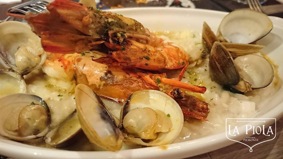 "carnaroli risotto ""pescatora"" style with king prawn"
